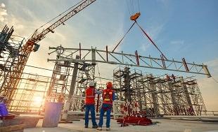निर्माण और निर्माण - औद्योगिक स्थापना - निर्माण कार्यकर्ता पुलिंदा स्थापना।