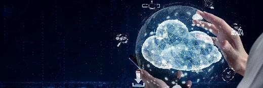工业数字化-云计算技术和在线数据存储业务网络的概念。